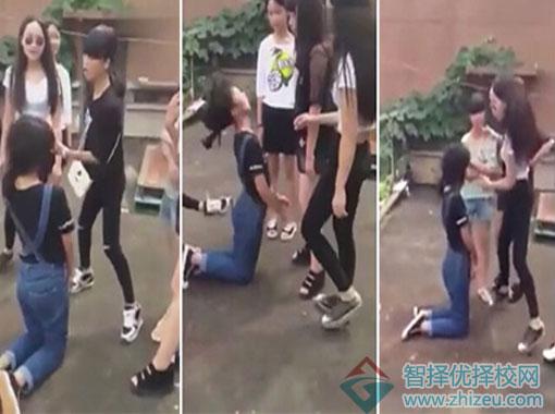 女生打架视频_江西永新县初中女生打架